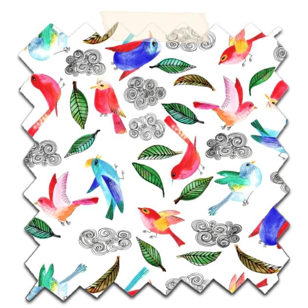 papier scrap gratuit motif oiseau et nuage