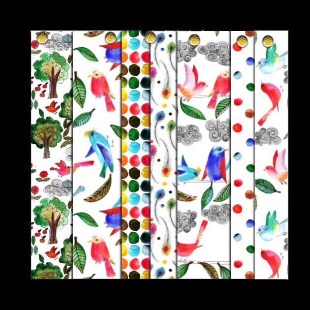 papier scrap gratuit motif oiseau