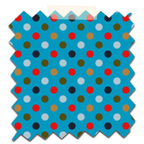 papier scrap gratuit motif pois rouge gris fond bleu