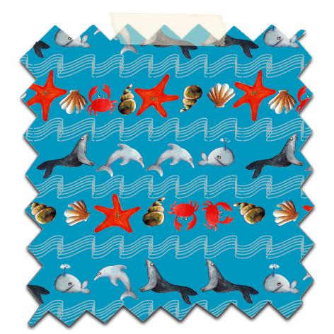 papier scrap gratuit motif vague océan fond bleu
