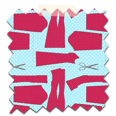 papier scrapbooking gratuit motif couture bleu 1