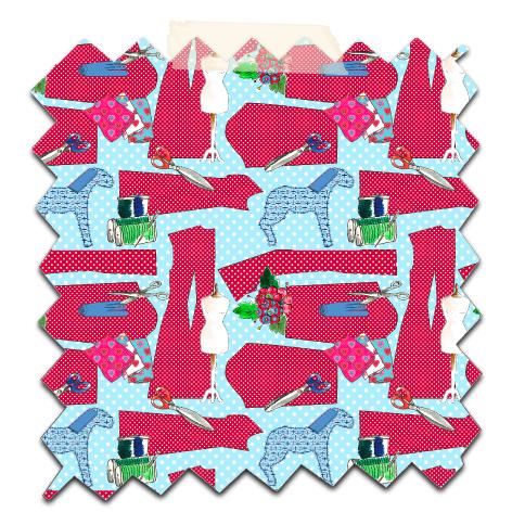 papier scrapbooking gratuit motif couture bleu 2