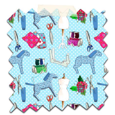 papier scrapbooking gratuit motif couture bleu