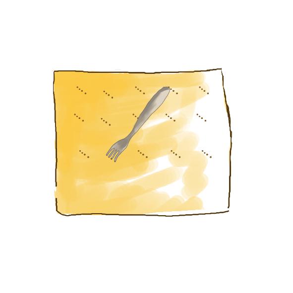 piquez la pâte feuilletée