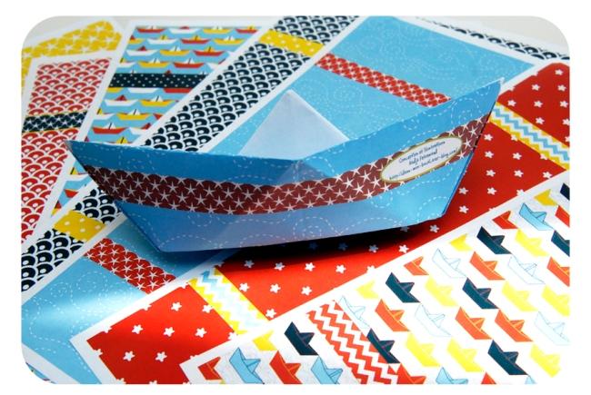pliage bateau en papier paper boat 1