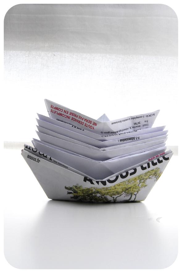 pliage bateau en papier paper boat 3