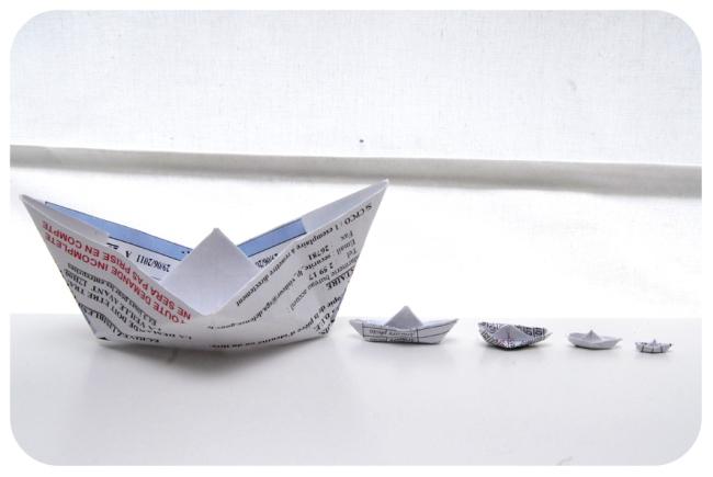 pliage bateau en papier paper boat 4
