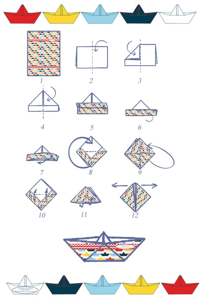 pliage bateau en papier tutoriel paper boat