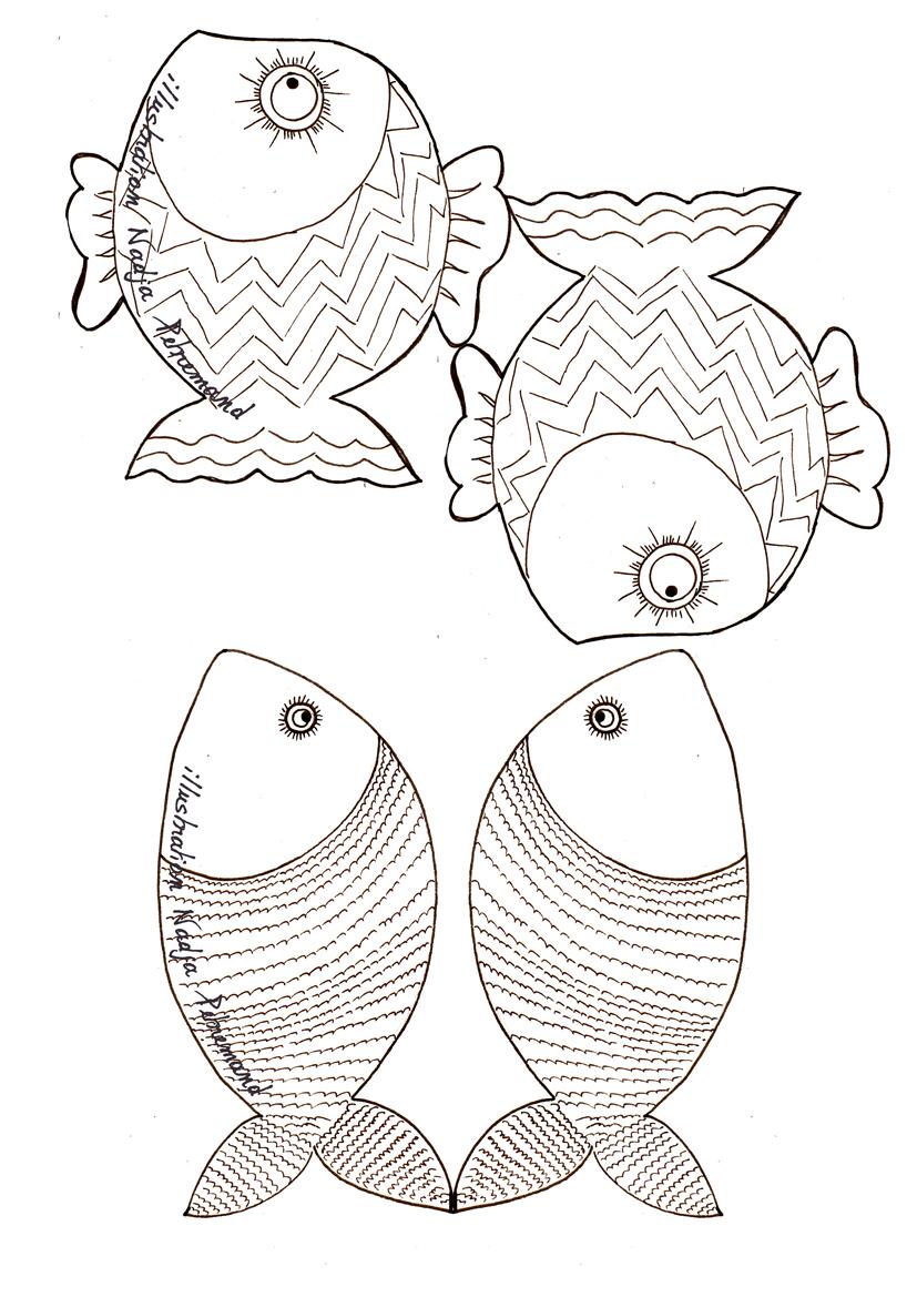 Guirlande de poissons colorier dans mon bocal - Poissons a colorier ...