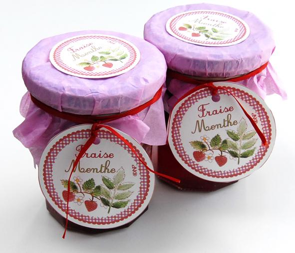 pot de confiture fraise menthe 2