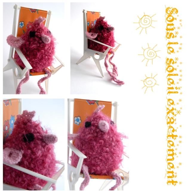 poule tricotée