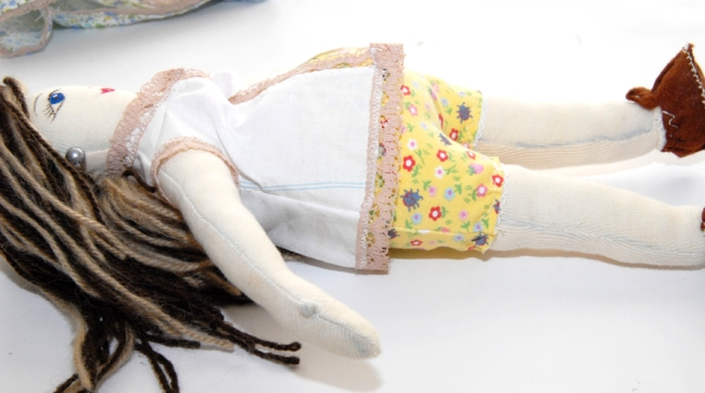 poupée en tissu enceinte 1