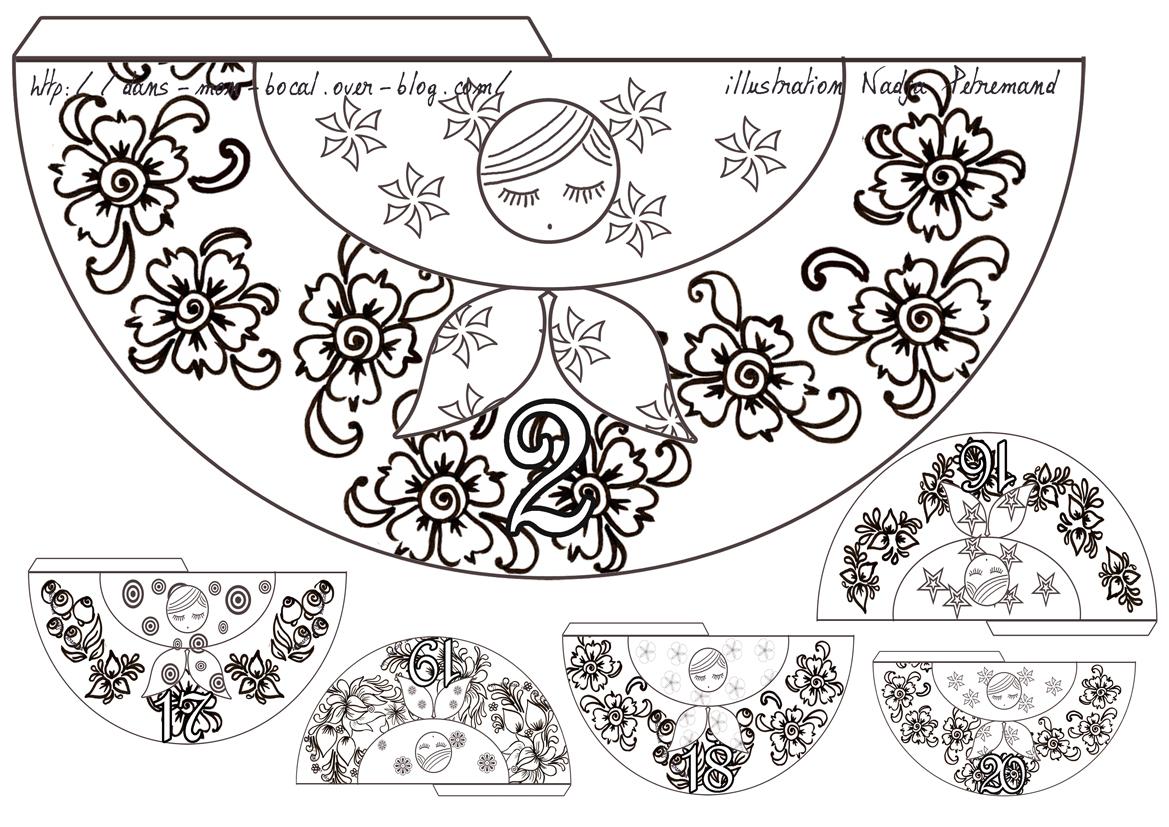calendrier de l avent poup e russe colorier dans mon bocal. Black Bedroom Furniture Sets. Home Design Ideas