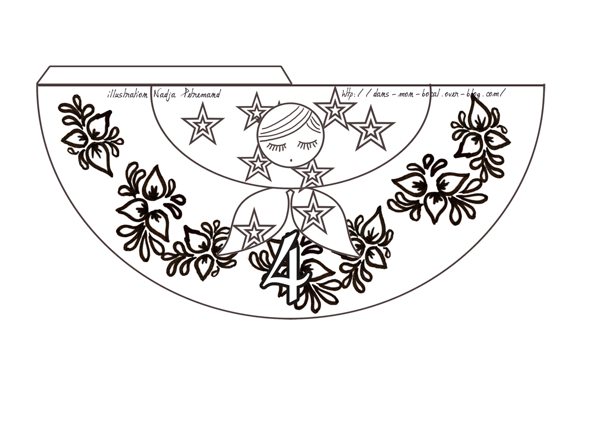 calendrier de lavent poupee russe a colorier