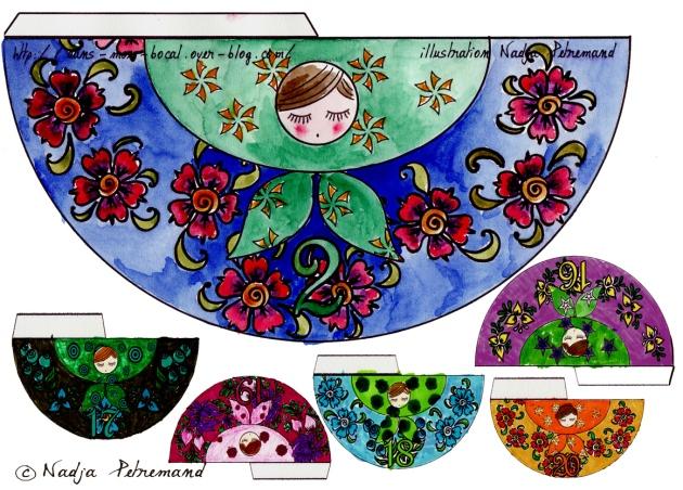 poupée russe couleur p 2-17-18-19-20-21
