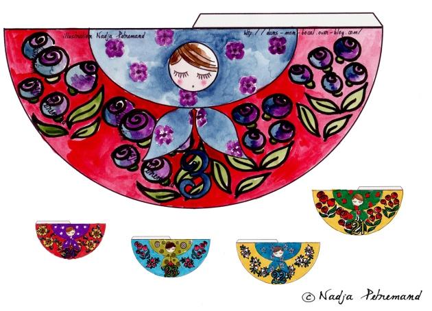 poupée russe couleur p 3-21-22-23-24