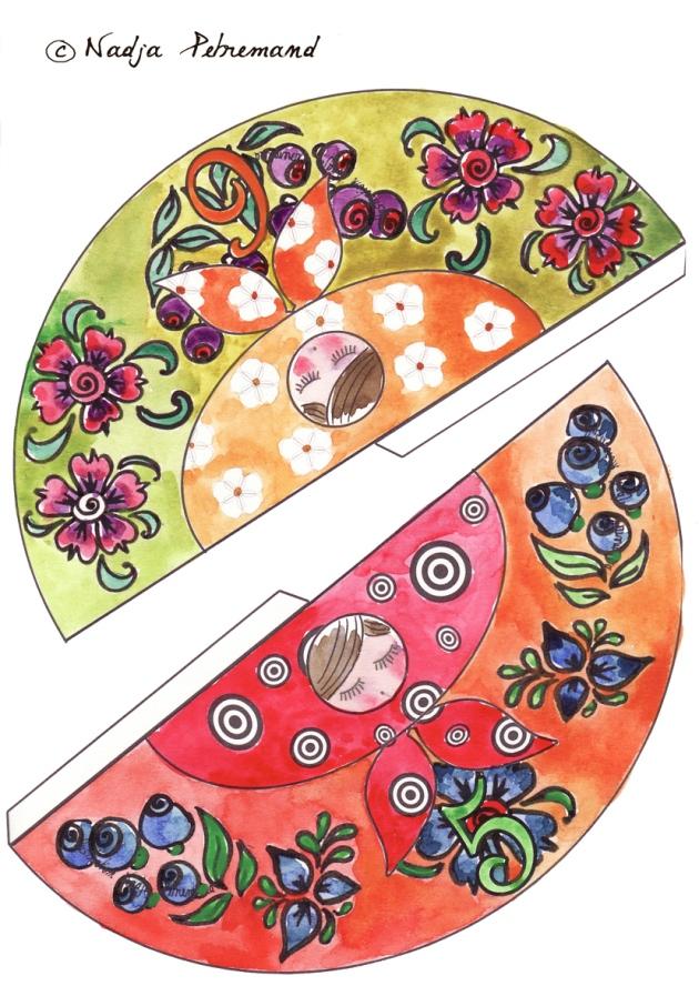 poupée russe couleur p 5-6