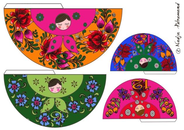 poupée russe couleur p 8-9-12-13