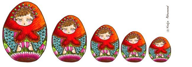 poupée russe oeuf couleur