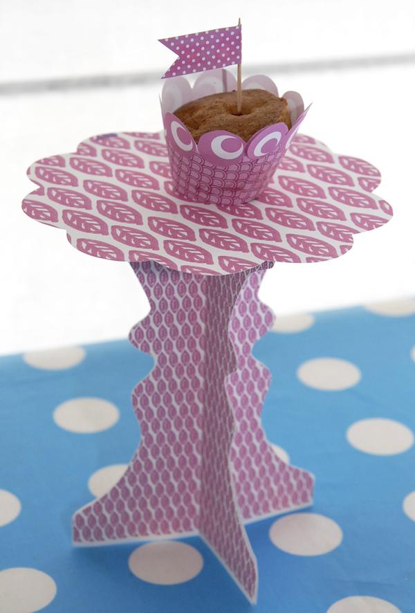 présentoire à cupcake à imprimer gratuitement 1g