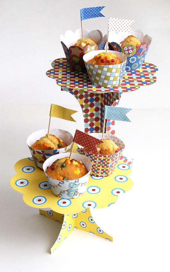 présentoire à cupcake à imprimer gratuitement 2