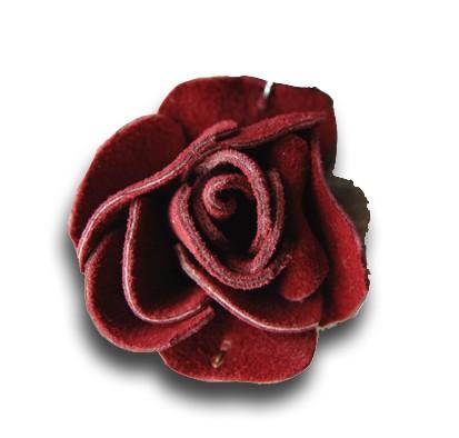 rose en cuir