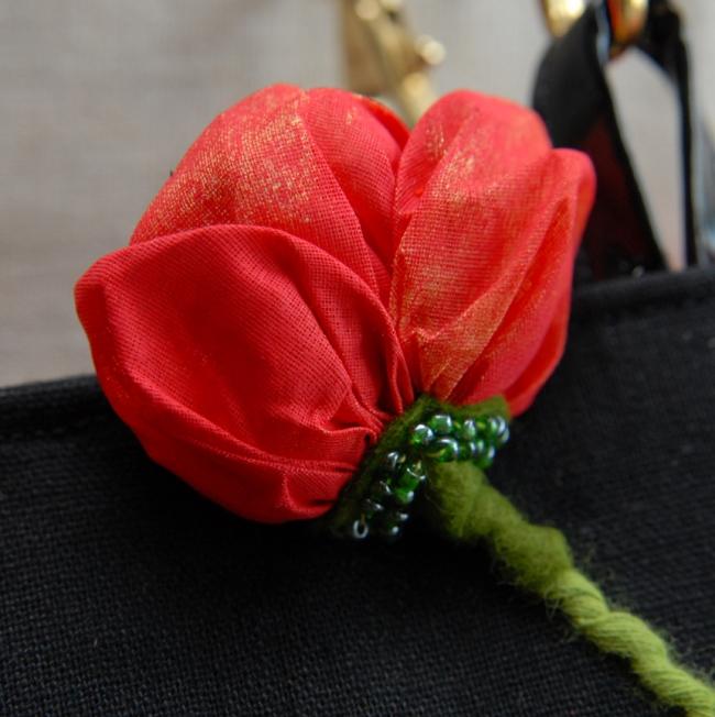 sac coquelicot détail fleur 1