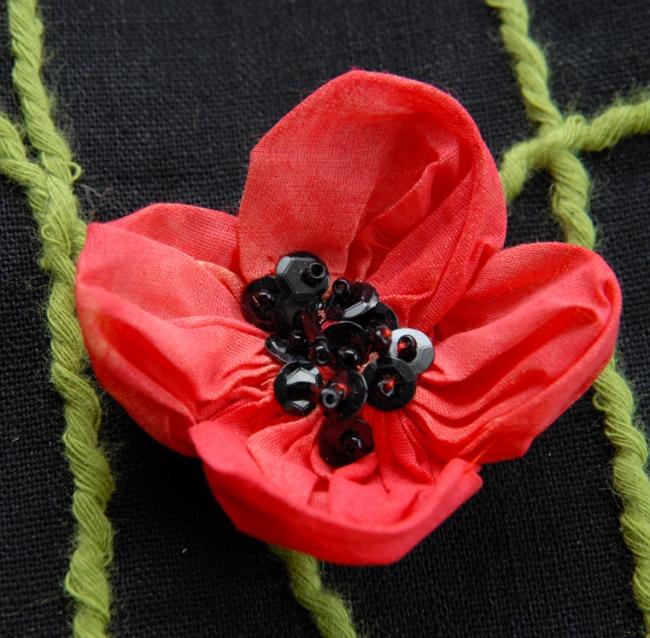 sac coquelicot détail fleur 2