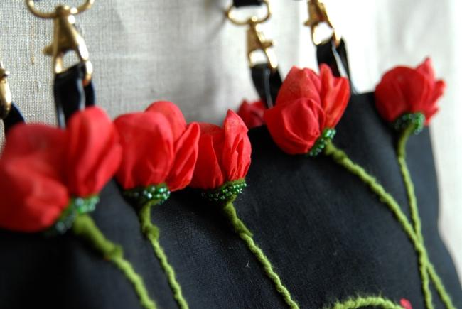 sac coquelicot détail fleur 3
