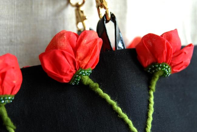 sac coquelicot détail fleur 4