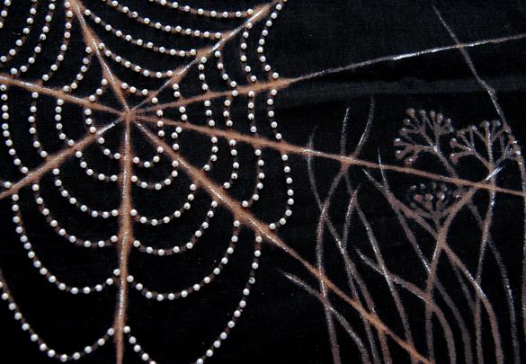 sac toile d'araigné détail toile