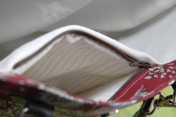 sac toile de jouy poche