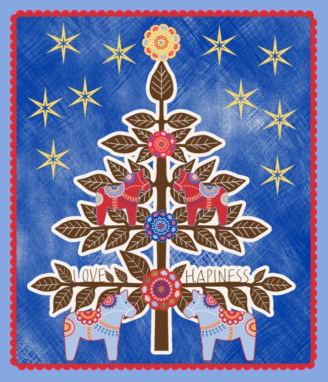 sapin de noel illustration brun