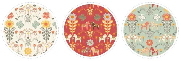 tissu dala horse echantillon couleur d'automne