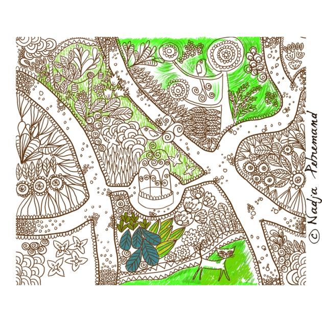 tissu jardin mise en couleur
