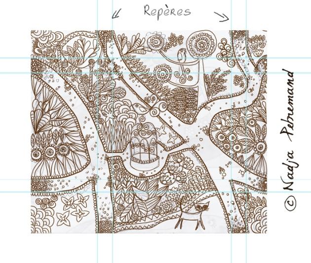 tissu jardin palette graphique