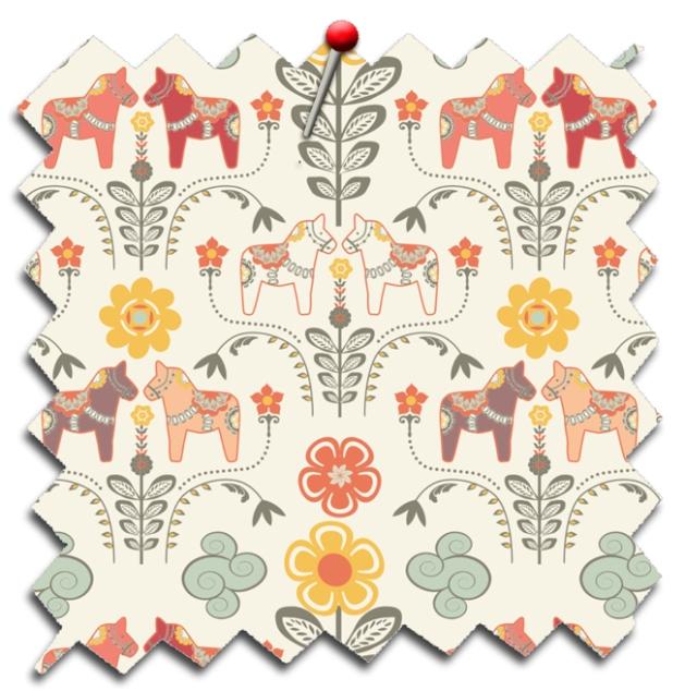 tissu motif dala horse
