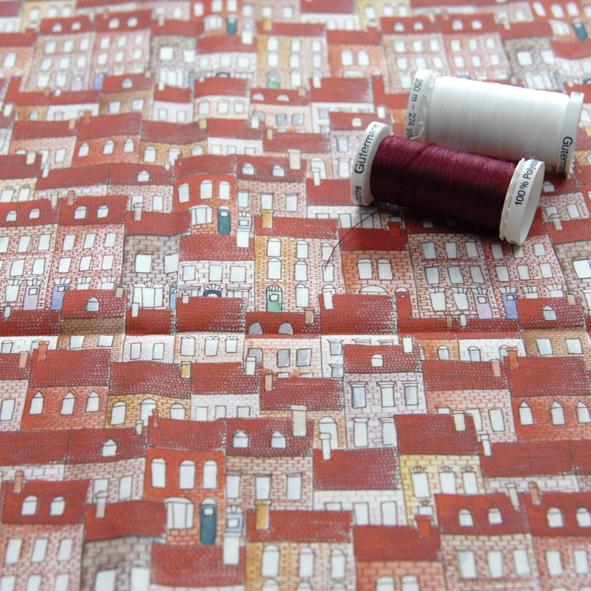 tissu petite maison couleur D