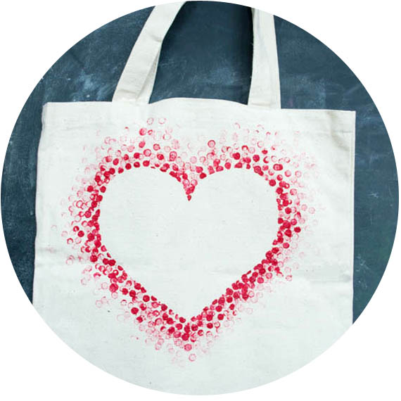 tote bag avec coeur imprimé 1
