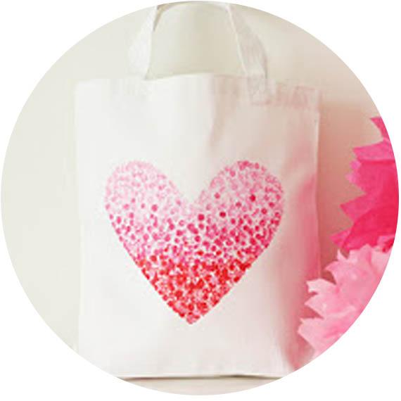 tote bag avec coeur imprimé 2