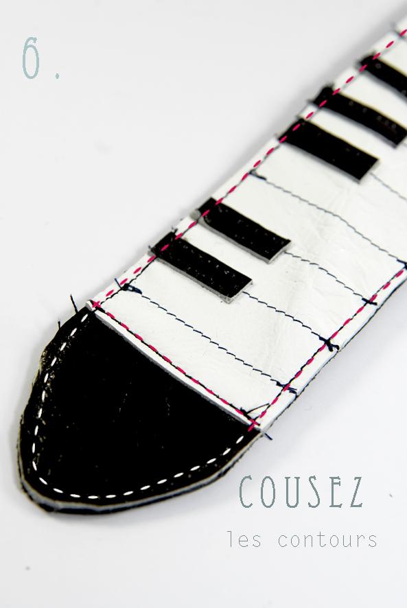 tuto comment faire un bracelet piano en cuir dans mon bocal. Black Bedroom Furniture Sets. Home Design Ideas