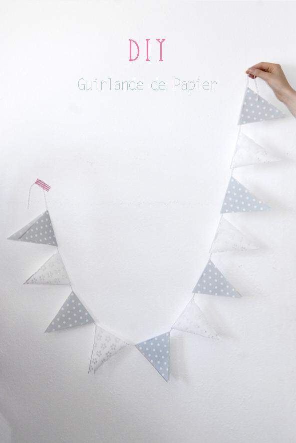 DIY guilande de fanion en papier 6