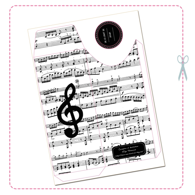 free printable envelope music design 2