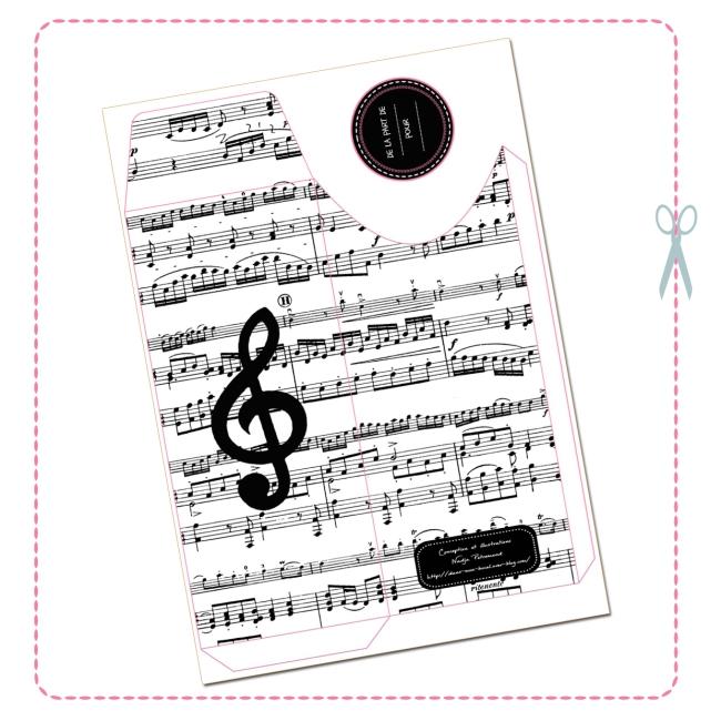 free printable envelope music design 2