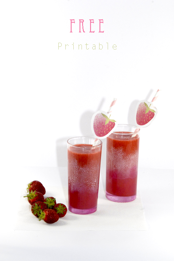 free printable stawberry label drinking straw 6