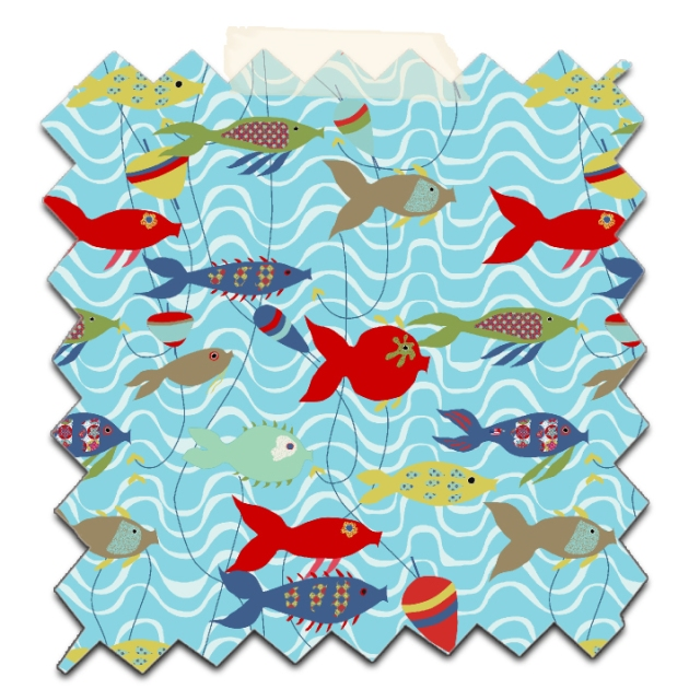 free printable wrap paper collection fish 4