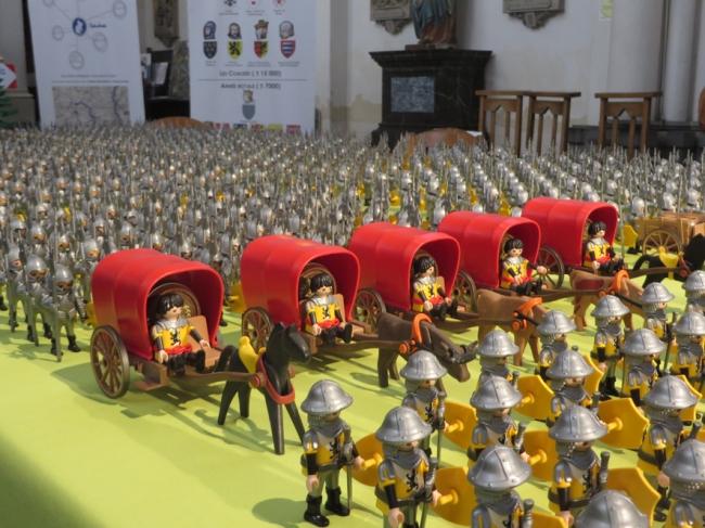 la bataille de Bouvine reconstituée en playmobil 1