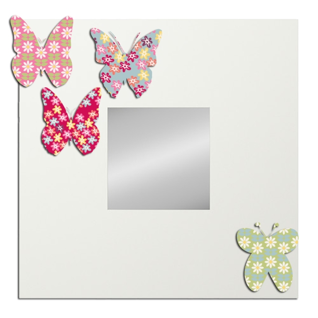 malma-miroir ikéa avec papillon en papier
