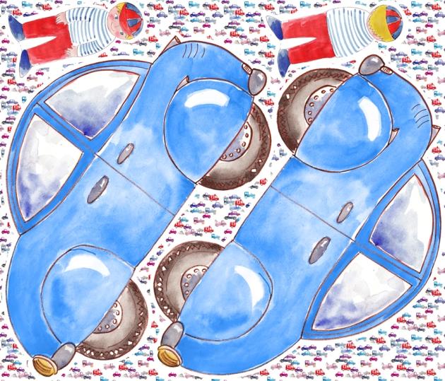 pilow car blue copie