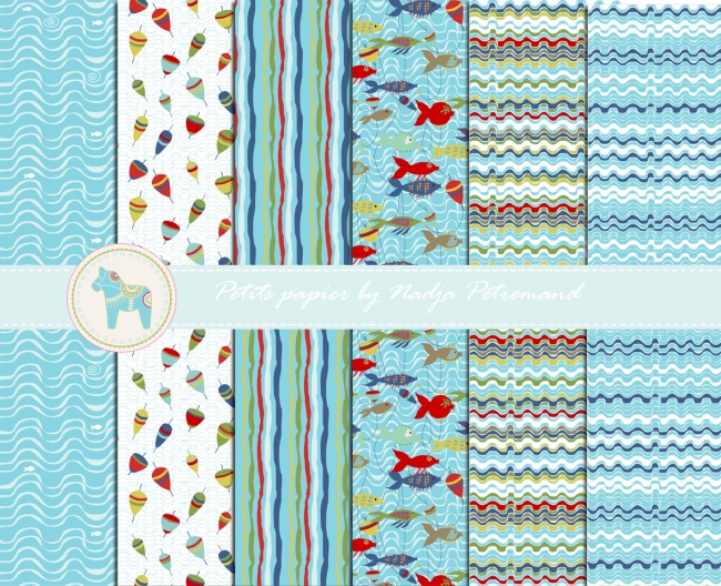 tissu collection motif poisson